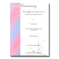 Naming Ceremony Certificate – Stripe Design – Grandparents