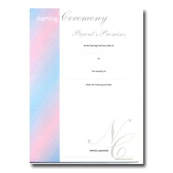 Naming Ceremony Certificate – Stripe Design – Parent's Promises