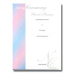 Blue & Pink Parents Promises Certificate
