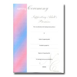 Naming Ceremony Certificate – Stripe Design – Supporting Adults