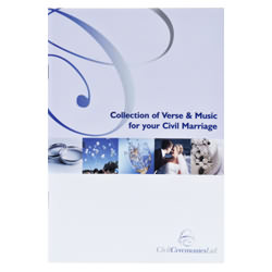 Collection of Verse & Music for your marriage or renewal of vows