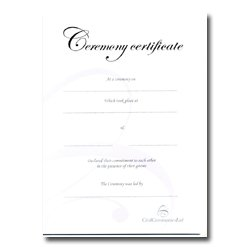 Commitment Ceremony Certificate – Silver