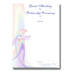 Partnership Celebration Ceremony Certificate – Flower Design – Guests Attending