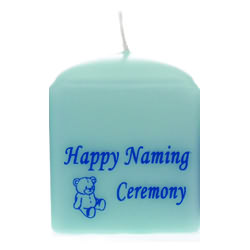 Naming Ceremony Candles Blue – 8cm