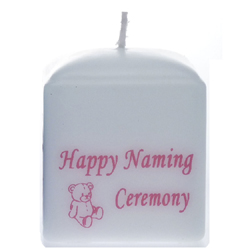 Naming Ceremony Candles White And Pink