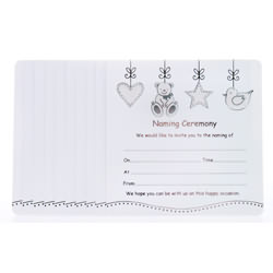 Naming Ceremony Invitations – Silver