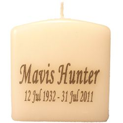 Personalised Remembrance Funeral Candles