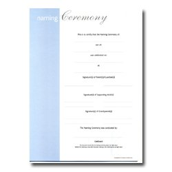 Record of Naming Ceremony blue
