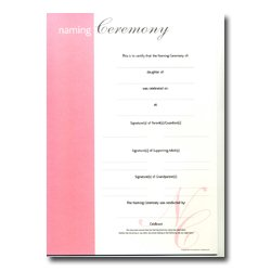 Record Of Naming Ceremony – Pink