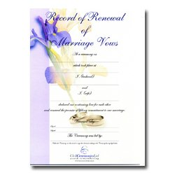 Renewal Of Marriage Vows – Flower Design