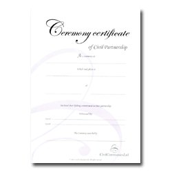 Silver Civil Partnership Certificate