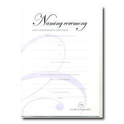 Naming Ceremony Certificate – Silver – Great – Grandparents