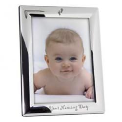 Silver Naming Day Photo Frame