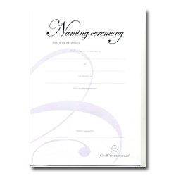 Naming Ceremony Certificate – Silver – Parent's Promises