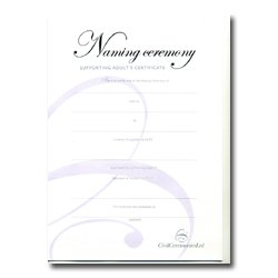 Naming Ceremony Certificate – Silver – Supporting Adults