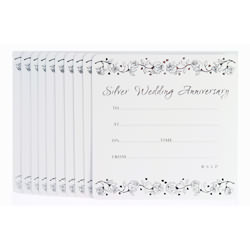 Wedding Anniversary Invitations – Silver