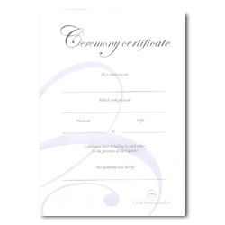 Wedding Celebration Ceremony Certificate – Silver