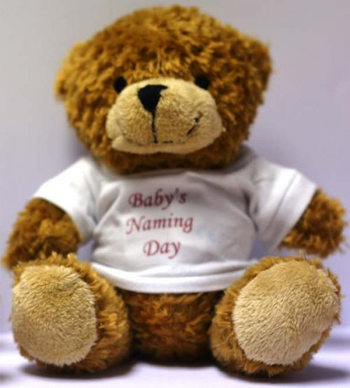 small brown bears naming day t-shirts