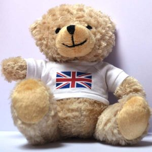 Small Teddy Bear – Union Jack T-Shirt