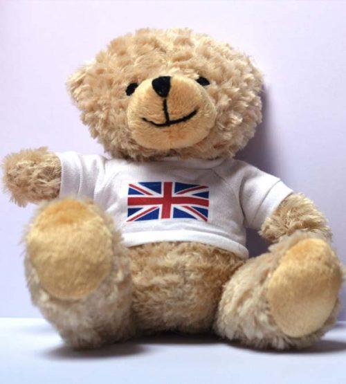 small cream bears union jack t-shirts