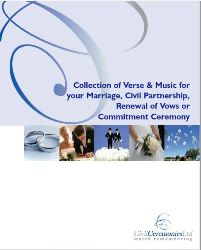 Collection Of Poetry And Readings For Marriage, Civil Partnership, Renewal Of Vows Or Commitment